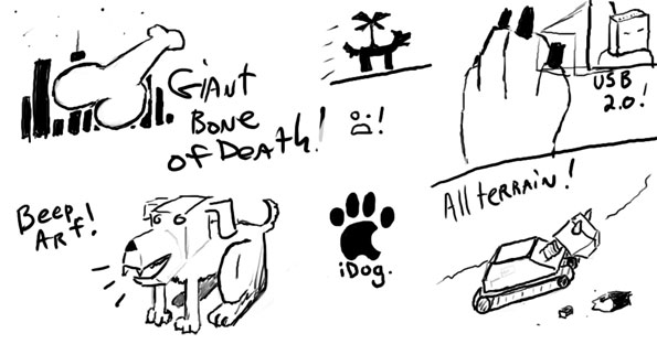 Robot Dog Doodles